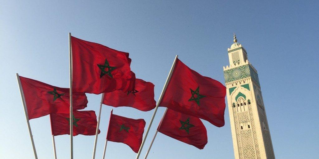 Bandeira Nacional do Reino de Marrocos.