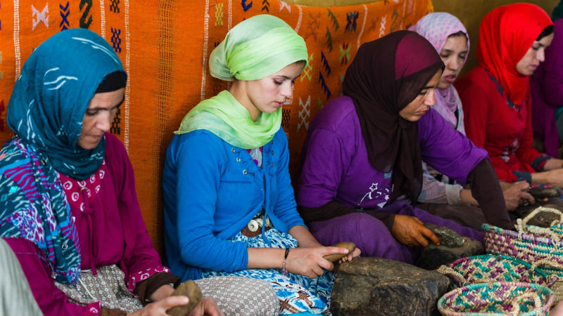 Mulheres usando Hijabs