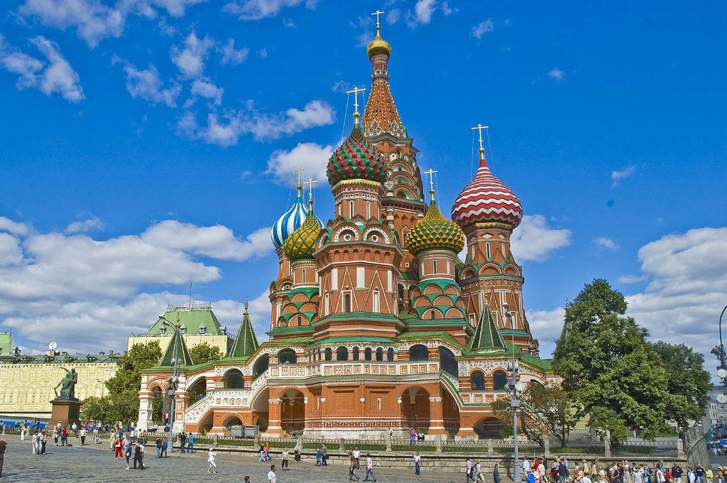 Catedral Ortodoxade São Basílio, em Moscou