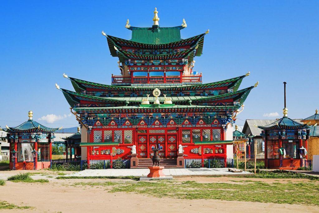 Templo Budista Ivolginsky Datsan, em Ulan Ude