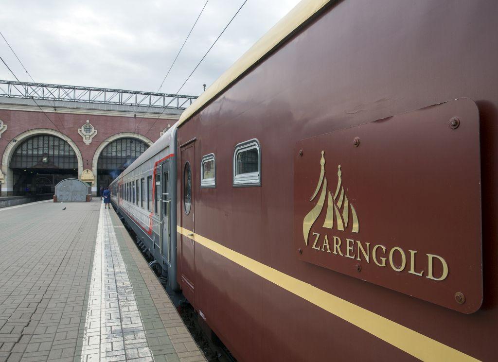 Trem Transiberiano Zarengold na Estação Transiberiana