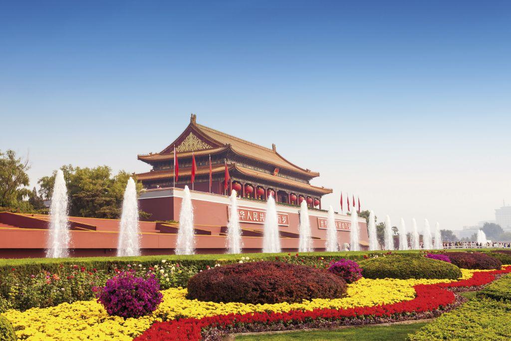 Praça Tiananmen durante a Transiberiana, em Beijing na China